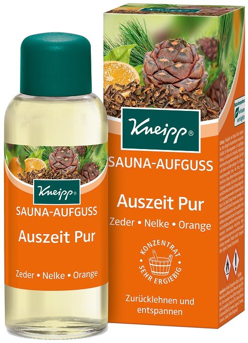 kneipp sauna aufguss auszeit pur zeder nelke orange 100 ml flasche online kaufen. Black Bedroom Furniture Sets. Home Design Ideas