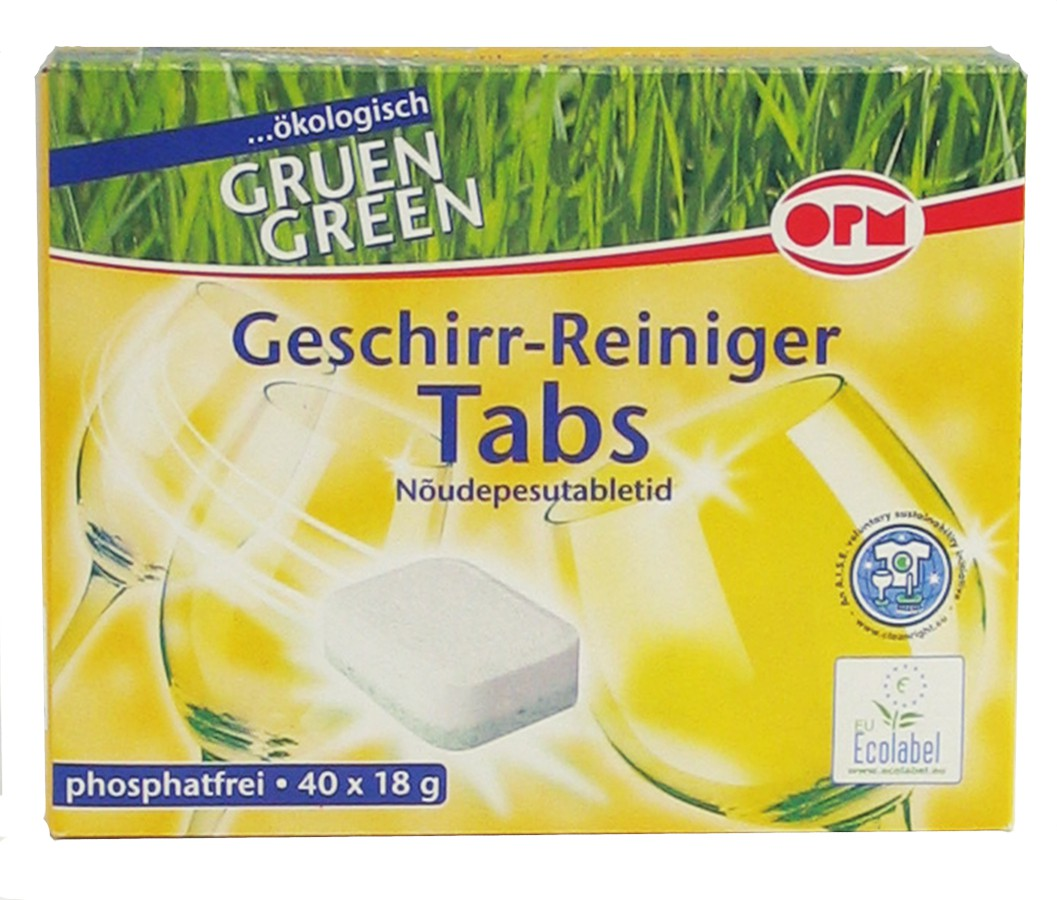 opm green geschirr reiniger tabs 1 packung 40 tabs 18g online kaufen. Black Bedroom Furniture Sets. Home Design Ideas