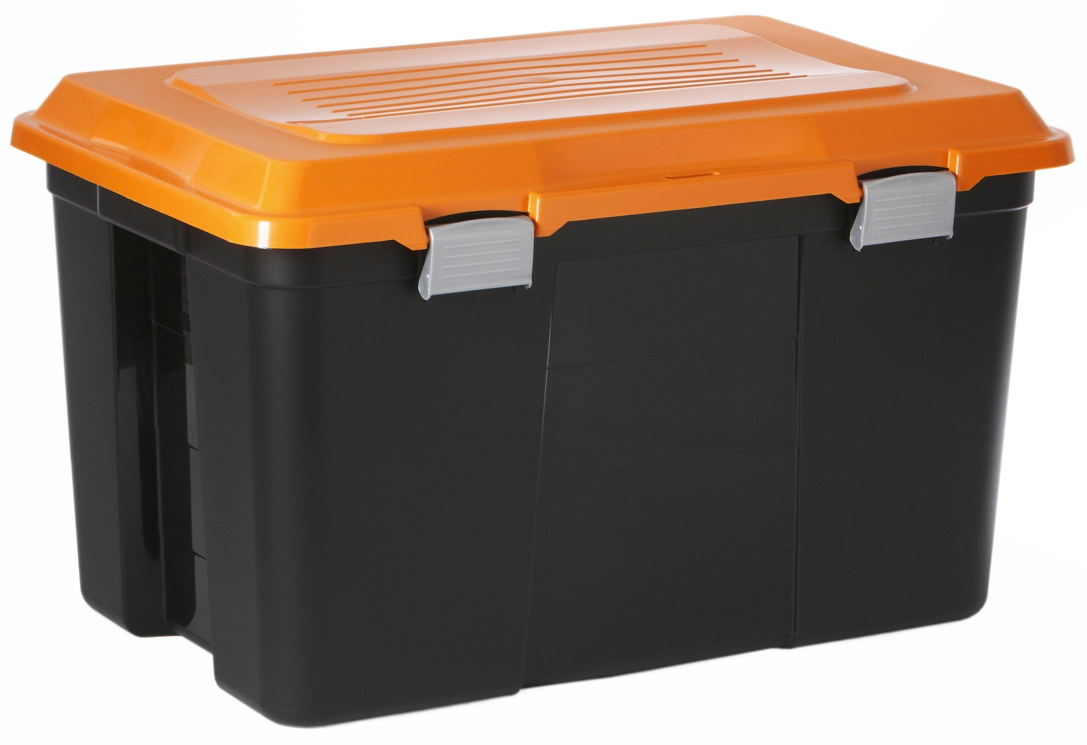 rotho packer box 60 liter farbe schwarz orange online kaufen. Black Bedroom Furniture Sets. Home Design Ideas