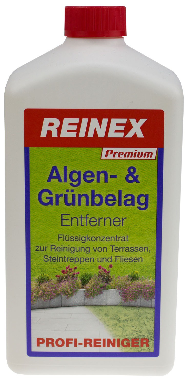 reinex premium algen und gr nbelag entferner 1000 ml flasche online kaufen. Black Bedroom Furniture Sets. Home Design Ideas