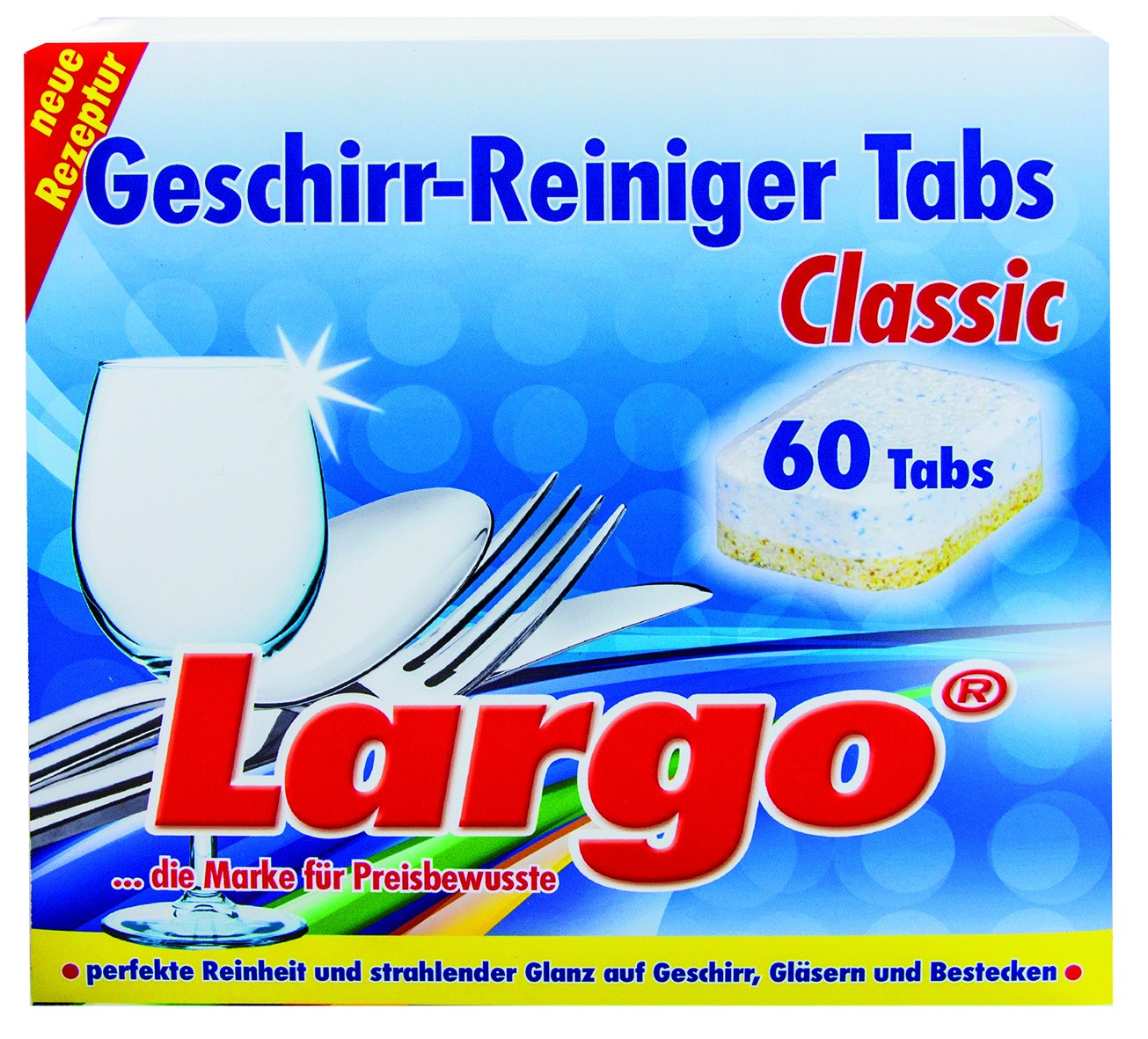 largo geschirr reiniger tabs classic 1 packung 60 tabs 18 g online kaufen. Black Bedroom Furniture Sets. Home Design Ideas