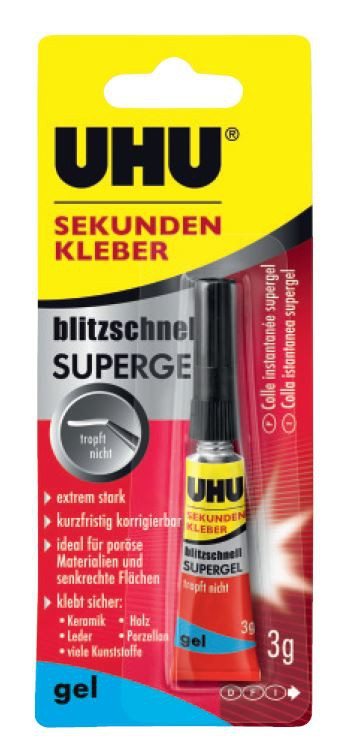 uhu sekundenkleber blitzschnell supergel 10 g tube online kaufen. Black Bedroom Furniture Sets. Home Design Ideas
