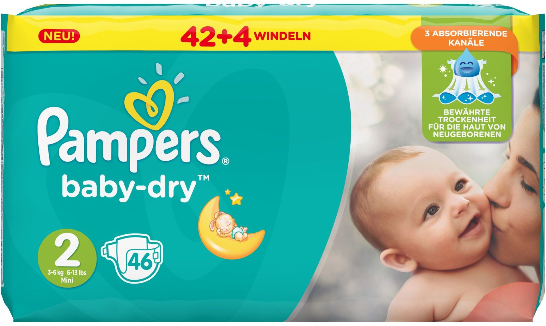 pampers baby dry mini 3 6 kg gr e 2 1 sparpack 46 windeln online kaufen. Black Bedroom Furniture Sets. Home Design Ideas
