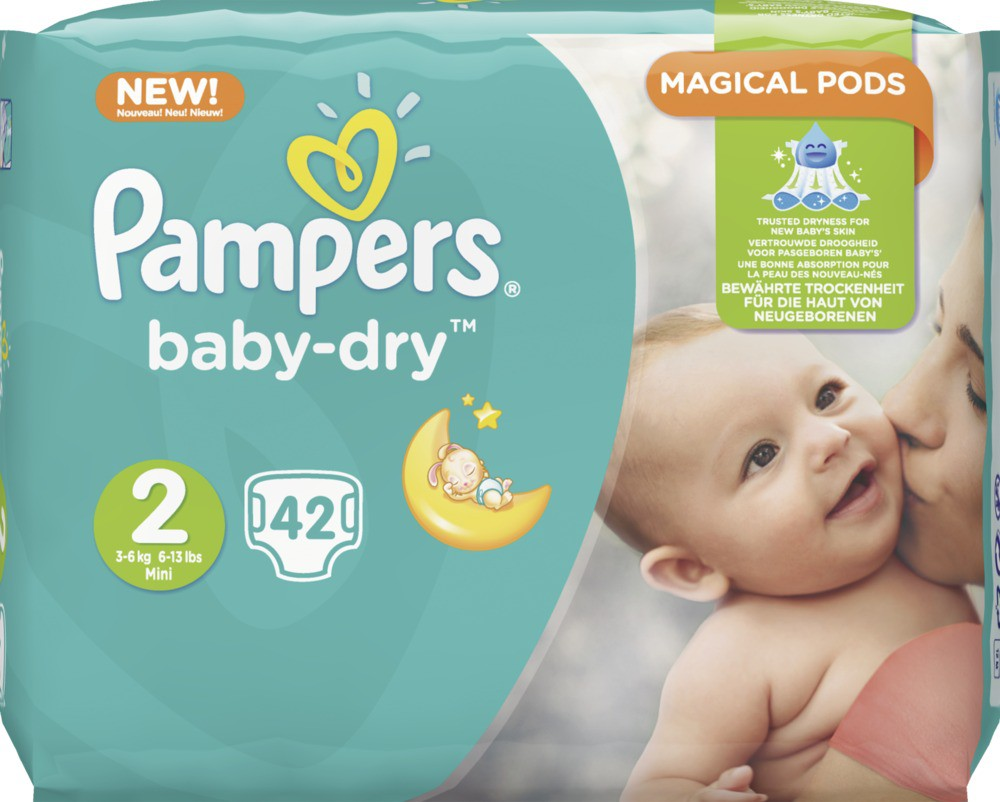 pampers baby dry mini 3 6 kg gr e 2 1 sparpack 42 windeln online kaufen. Black Bedroom Furniture Sets. Home Design Ideas