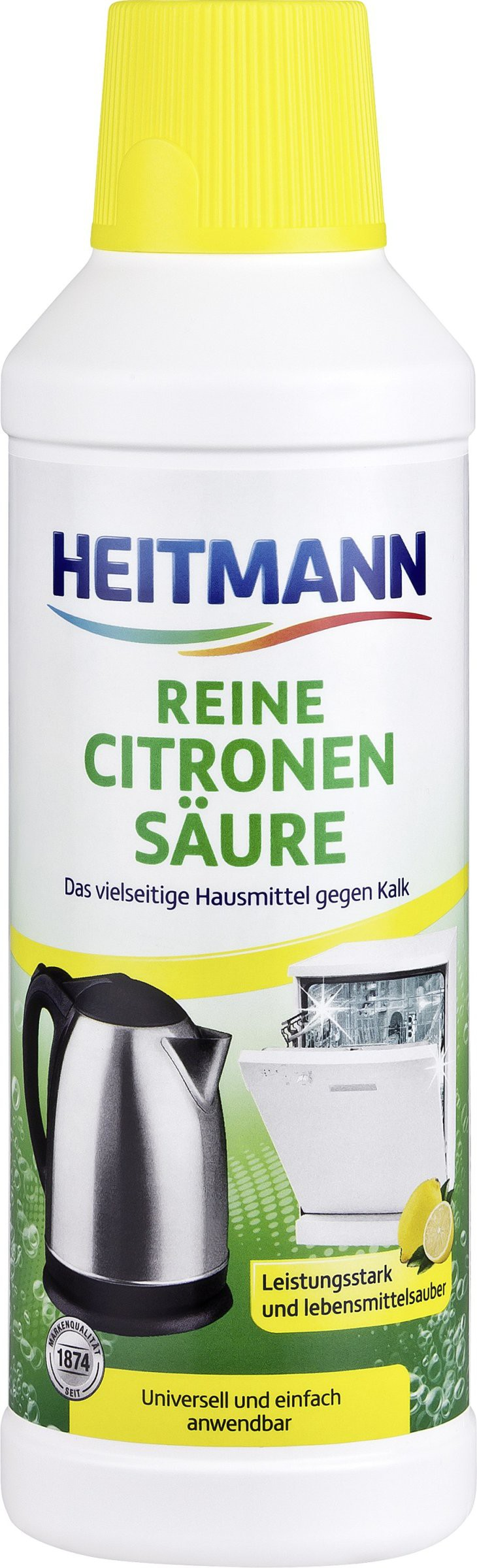 heitmann reine citronens ure fl ssig 500 ml flasche online kaufen. Black Bedroom Furniture Sets. Home Design Ideas