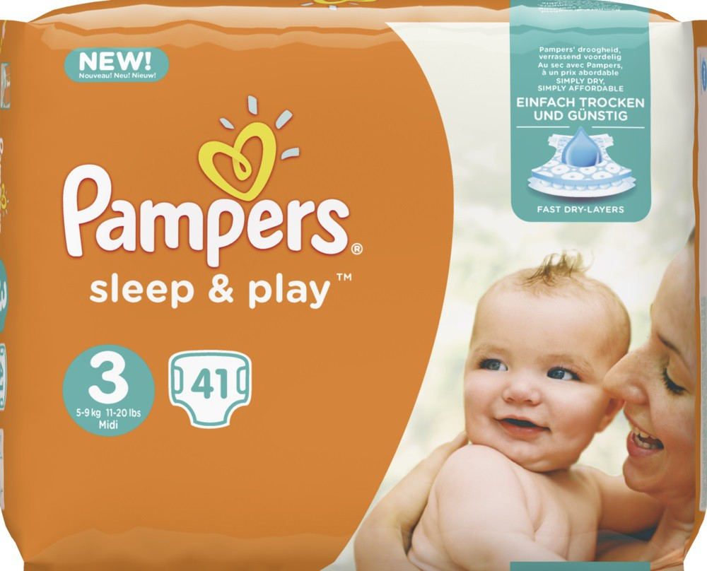 pampers sleep play midi 5 9 kg gr e 3 1 sparpack 41 windeln online kaufen. Black Bedroom Furniture Sets. Home Design Ideas