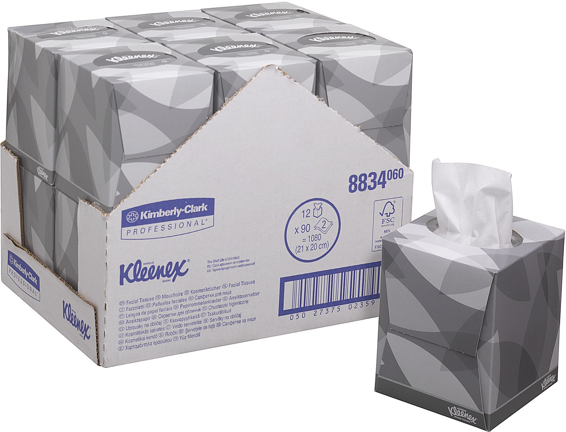 kleenex kosmetikt cher w rfel box 1 karton 12 boxen 90 st ck 1080 kosmetikt cher online. Black Bedroom Furniture Sets. Home Design Ideas