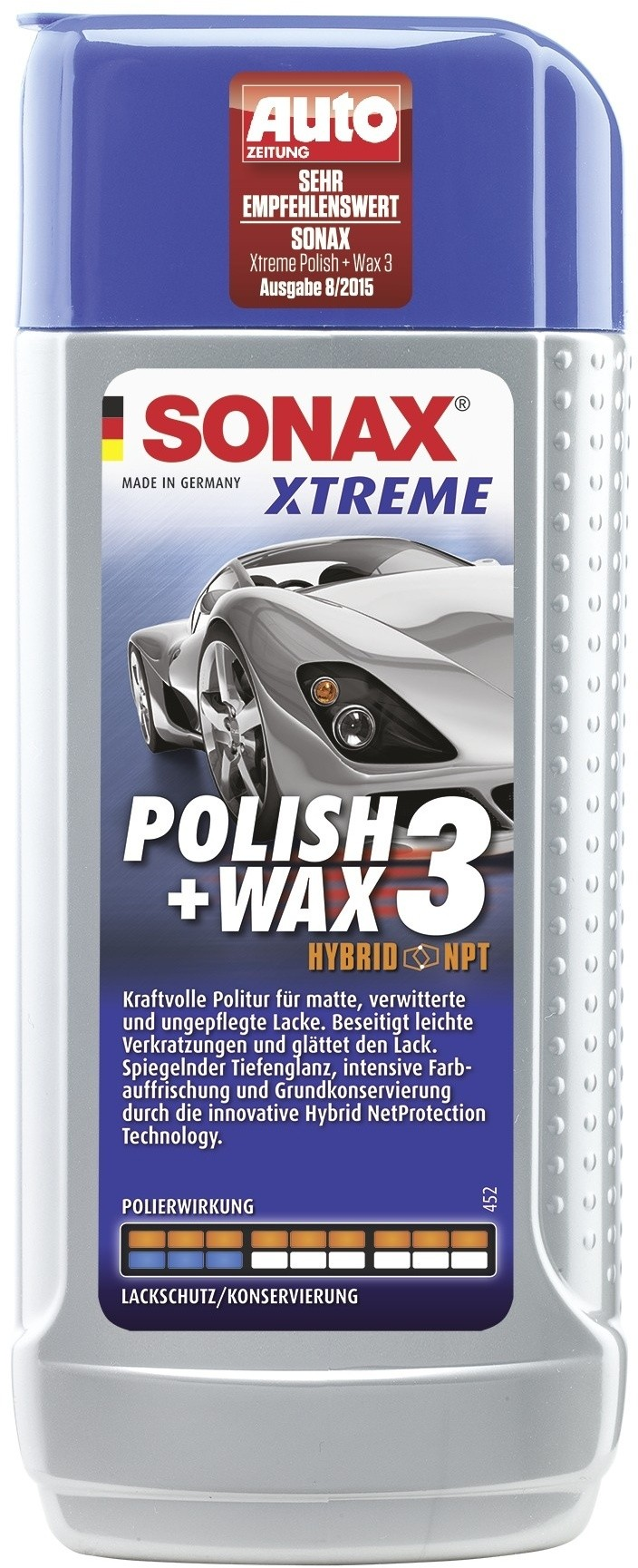 sonax xtreme polish wax 3 hybrid npt 250 ml flasche. Black Bedroom Furniture Sets. Home Design Ideas