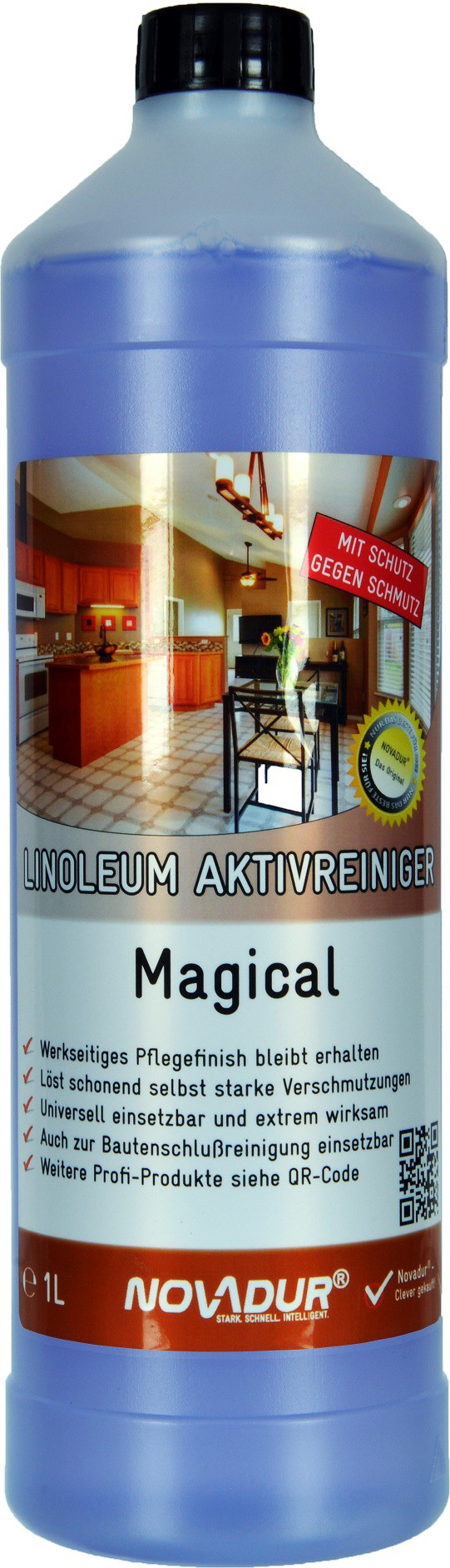 novadur linoleum aktivreiniger magical 1000 ml flasche online kaufen. Black Bedroom Furniture Sets. Home Design Ideas