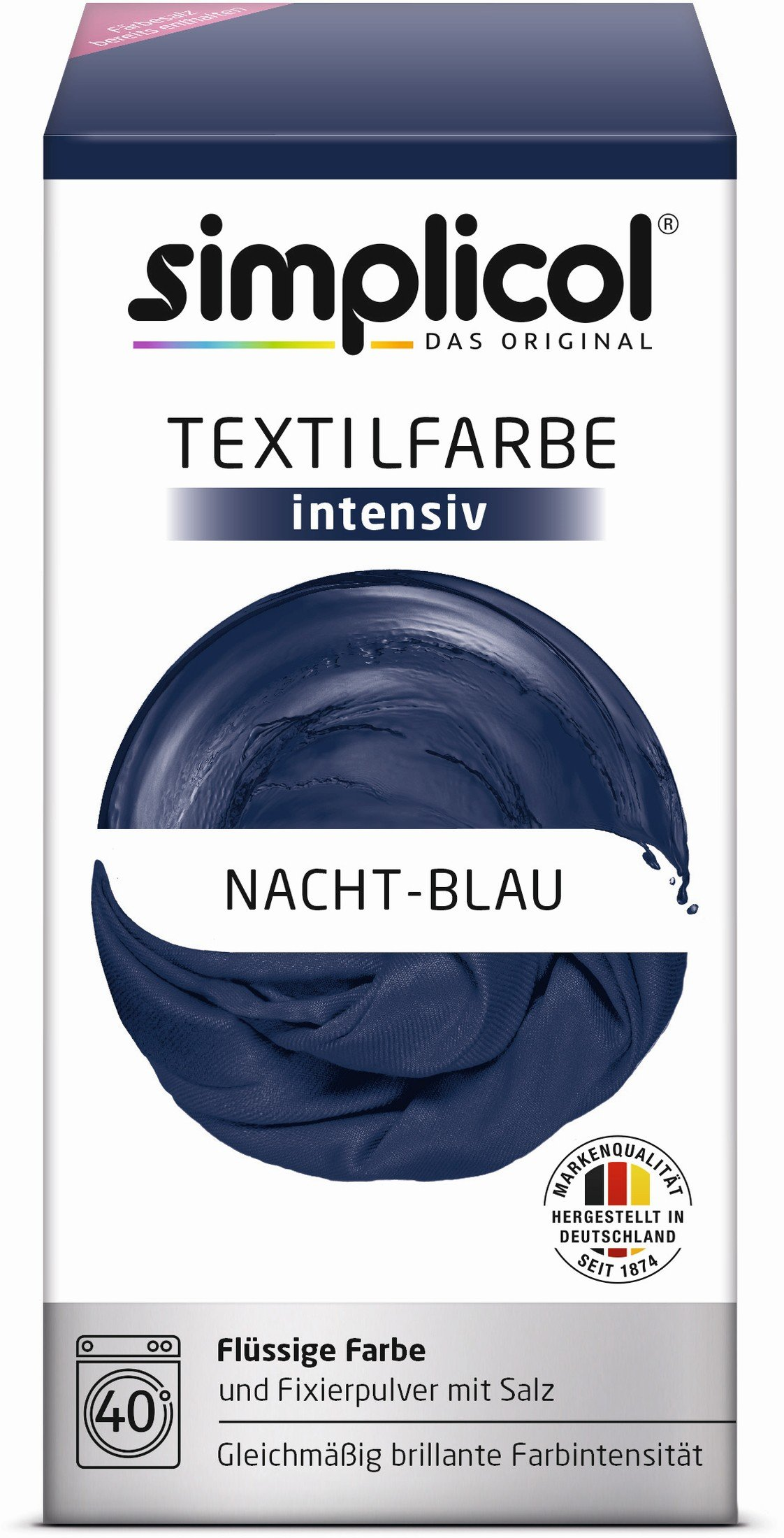 simplicol textilfarbe intensiv farbe nacht blau online kaufen. Black Bedroom Furniture Sets. Home Design Ideas