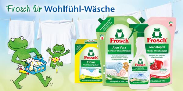 Frosch Waschmittel - sauber & gepflegt