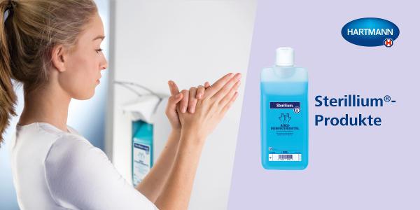 Die klassische Händedesinfektion!