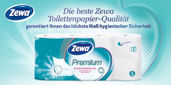 Das neue Zewa Premium ist besonders saugstark und weich.