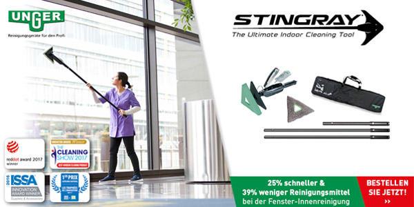 Das Stingray-Set reinigt schneller und sparsamer!
