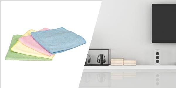 Gründliches putzen mit Microfasertüchern!