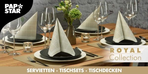 Servietten, Tischsets und Tischdecken mit Papstar Royal