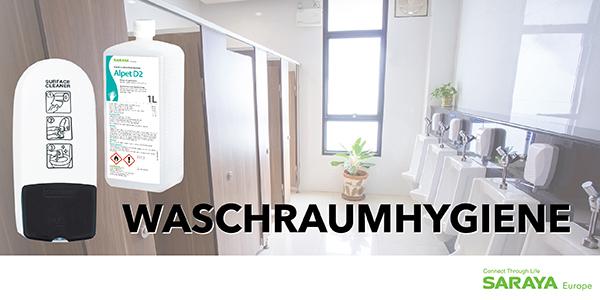 Garantierte Hygiene in Waschräumen!