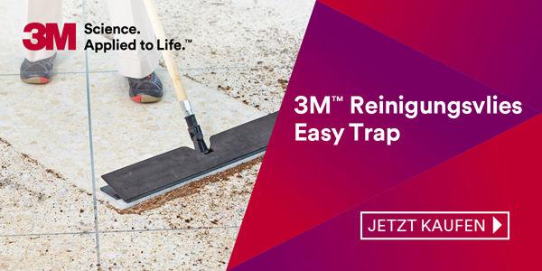 Hygienisch reine Böden mit dem Easy Trap Reinigungsvlies von 3M™!