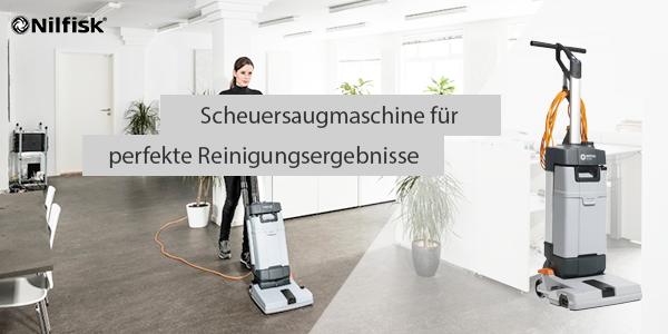 SC100: Die kompakte Scheuersaugmaschine für perfekte Reinigung in einem Arbeitsgang