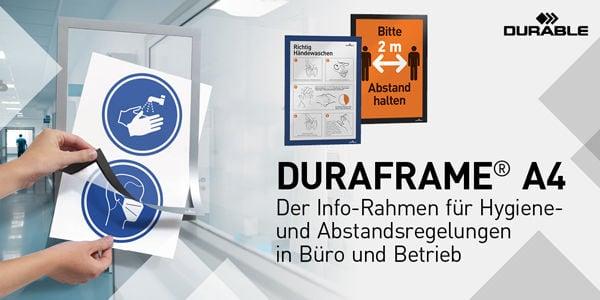 Der Info-Rahmen für Hygiene- und Abstandsregelungen in Büro und Betrieb!