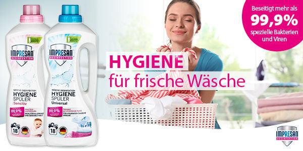 Hygienisch reine und saubere Wäsche!