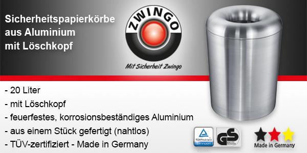 Sicherheitspapierkörbe aus Aluminium