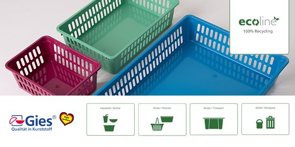 Die ecoline Recyclingkunststoff - Serie