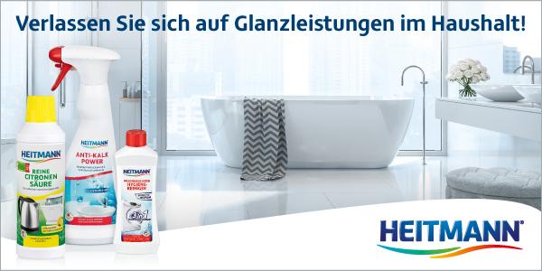 Hervorragende Reinigung im ganzen Haus - mit den HEITMANN Haushaltsreinigern!