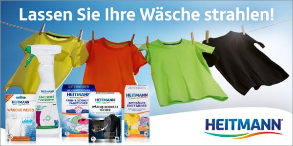 Strahlende Sauberkeit für Ihre Wäsche mit den HEITMANN Wäscheprodukten!