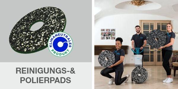 Reinigungs- und Polierpads für die effektive Bodenreinigung!