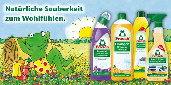 Gründlich, unkompliziert, ökologisch - Die Reiniger von Frosch entdecken!
