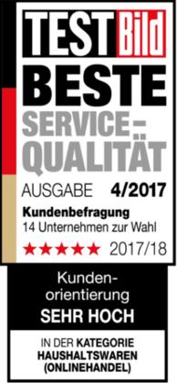 hygi.de ist TestBILD Beste Service Qualität 2017/2018